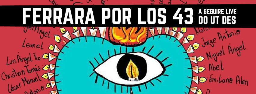 """CoopAttiva promuove l'iniziativa """"Ferrara Por Los 43"""", per ricordare i 43 studenti scomparsi in Messico"""