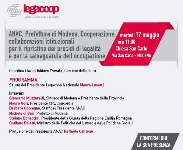 Tavola Rotonda a Modena il 17 maggio ore 11