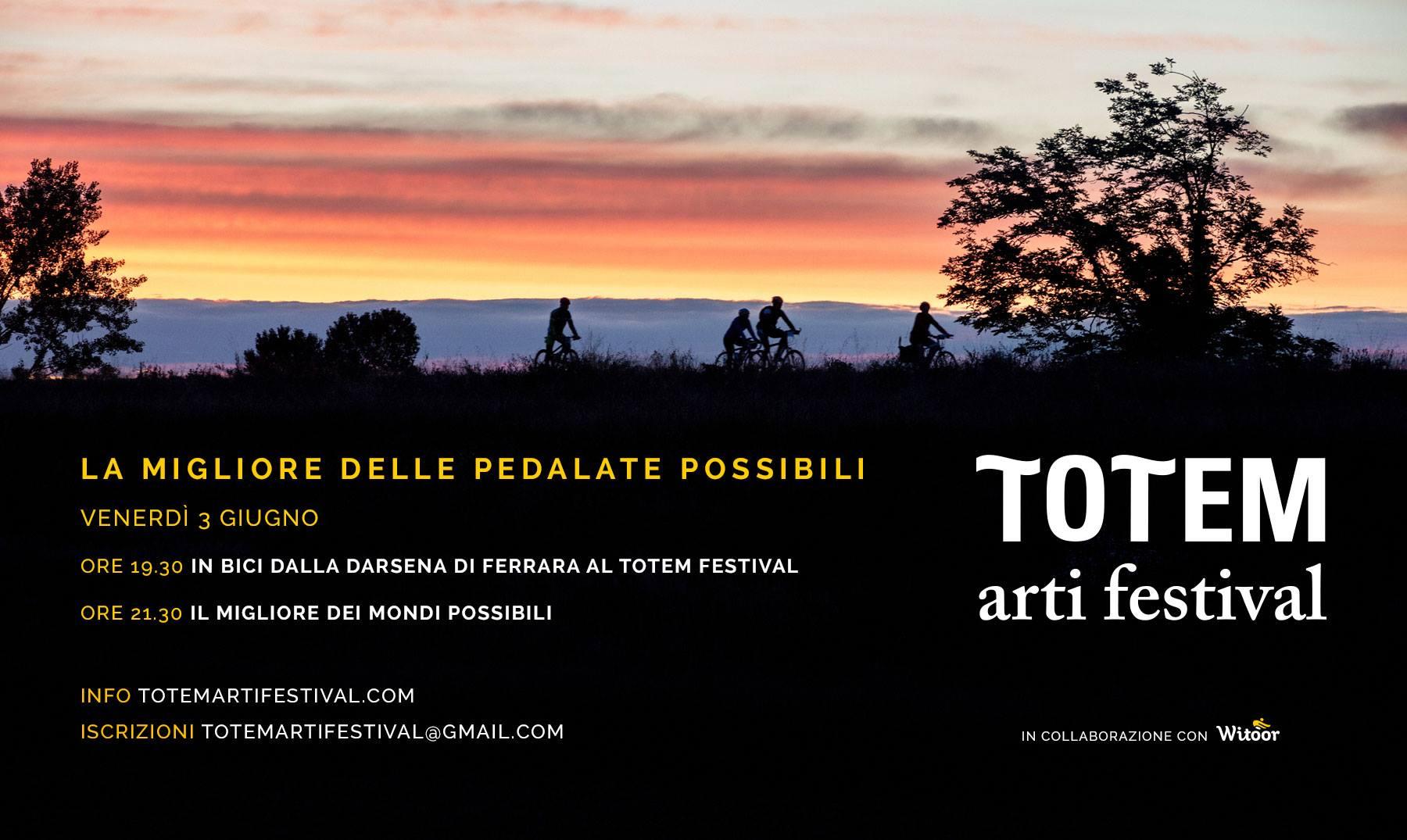 Totem Arti Festival e Witoor: cicloturismo e arte per un festival sul fiume Po, dal 3 al 5 giugno a Ferrara