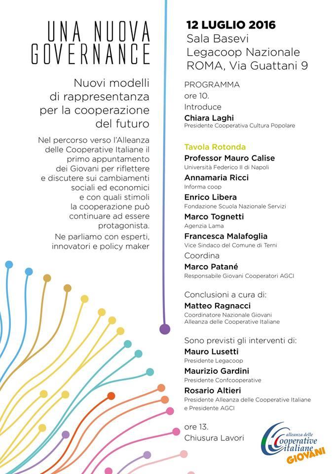"""""""Una nuova Governance"""": a Roma il primo appuntamento promosso dai giovani dell'Alleanza delle Cooperative"""