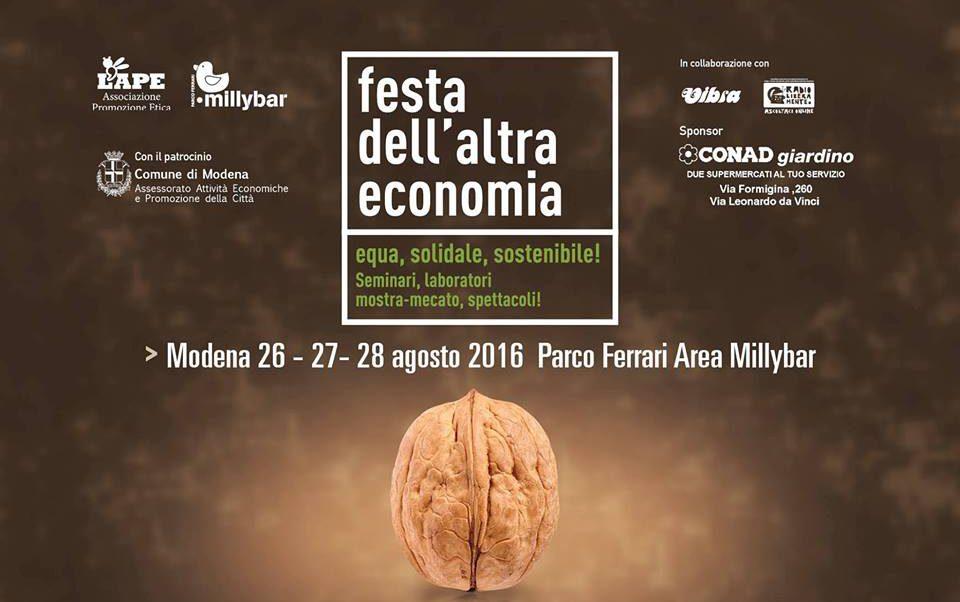 FESTA DELL'ALTRA ECONOMIA: fine settimana dedicato all'economia equa, solidale e sostenibile