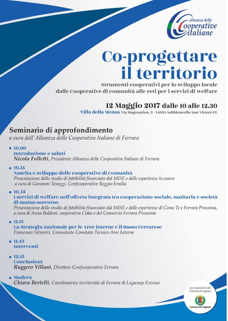 Co-progettare il territorio: il 12 maggio a Ferrara un seminario organizzato dall'Alleanza delle Cooperative di Ferrara, dedicato alle cooperative di comunità e alle reti per i servizi di welfare