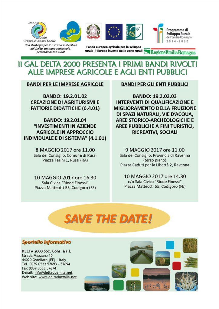 GAL DELTA 2000: tutti gli appuntamenti di presentazione dei bandi per lo sviluppo rurale