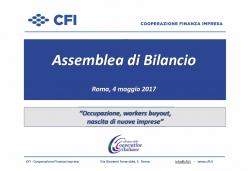 Assemblea di bilancio di CFI Cooperazione Finanza Impresa: deliberati 46 nuovi interventi a favore delle imprese. In 30 anni di attività, oltre 15.000 posti di lavoro salvati o ricreati