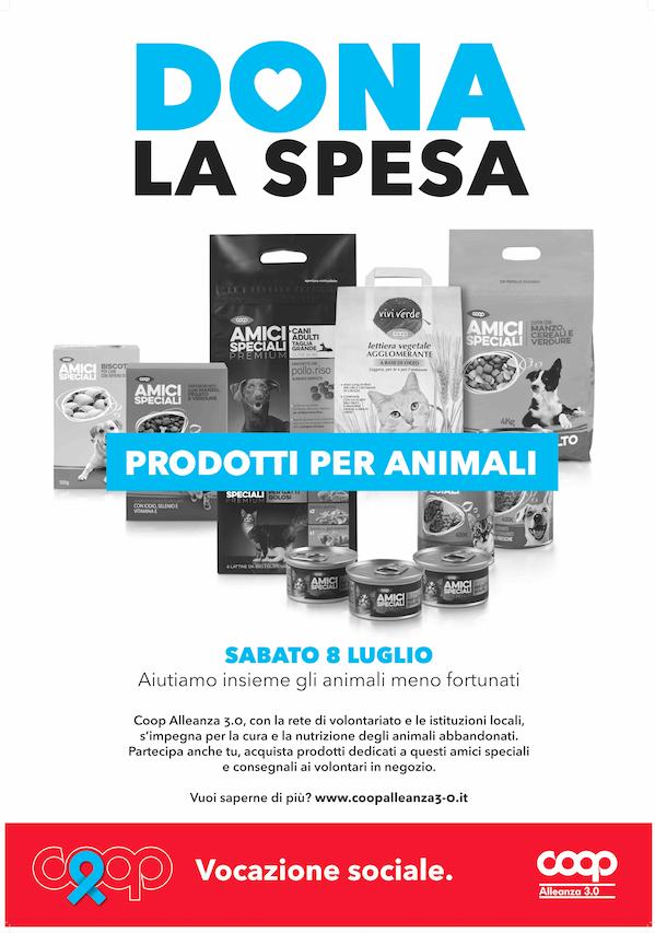 Dona la spesa: sabato 8 luglio in 142 punti vendita Coop Alleanza 3.0 la prima raccolta di prodotti per animali abbandonati