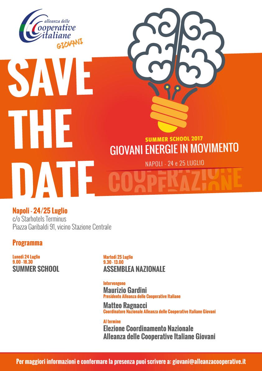 """""""Giovani energie in movimento"""": il 24-25 luglio a Napoli la Summer School e l'Assemblea Nazionale dei giovani cooperatori"""