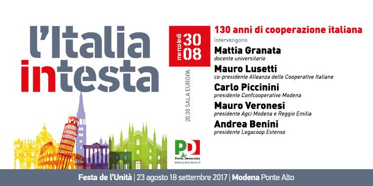 """Modena, 30 agosto: alla Festa de l'Unità dibattito su """"130 anni di cooperazione italiana"""""""