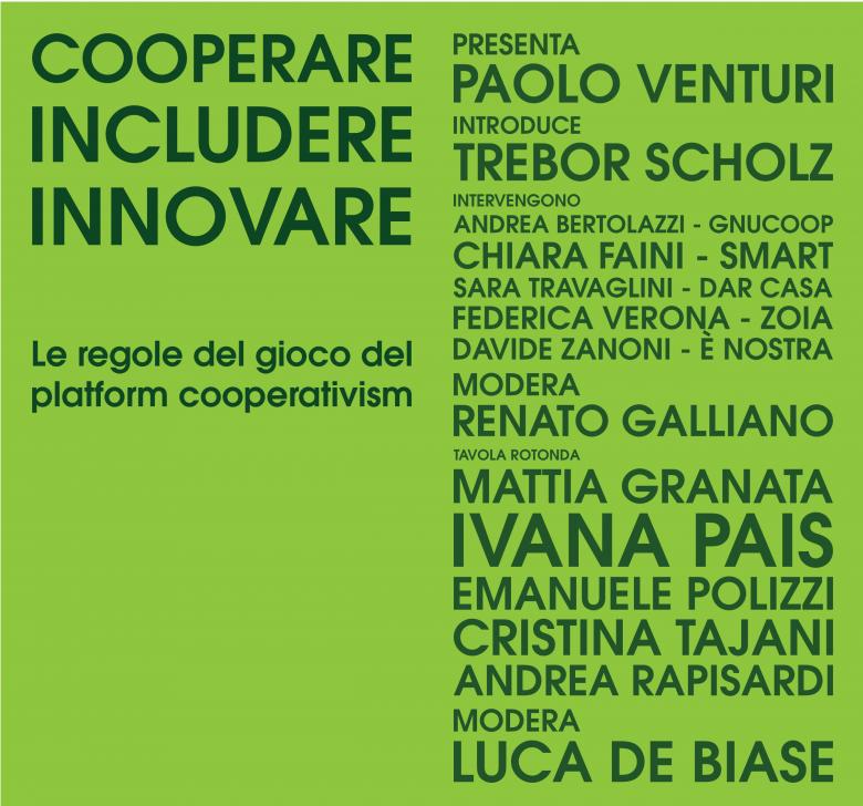 """""""Cooperare, includere, innovare"""": il 28 settembre a Milano si discutono le regole del gioco del platform cooperativismo insieme a Trebor Scholz"""