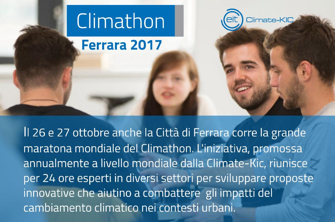 Il 26 e 27 ottobre anche Ferrara partecipa alla maratona mondiale del Climathon, per sviluppare idee innovative per la mobilità sostenibile. La cooperativa Città della Cultura tra gli organizzatori