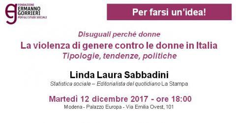 Disuguali perché donne. La violenza di genere contro le donne in Italia