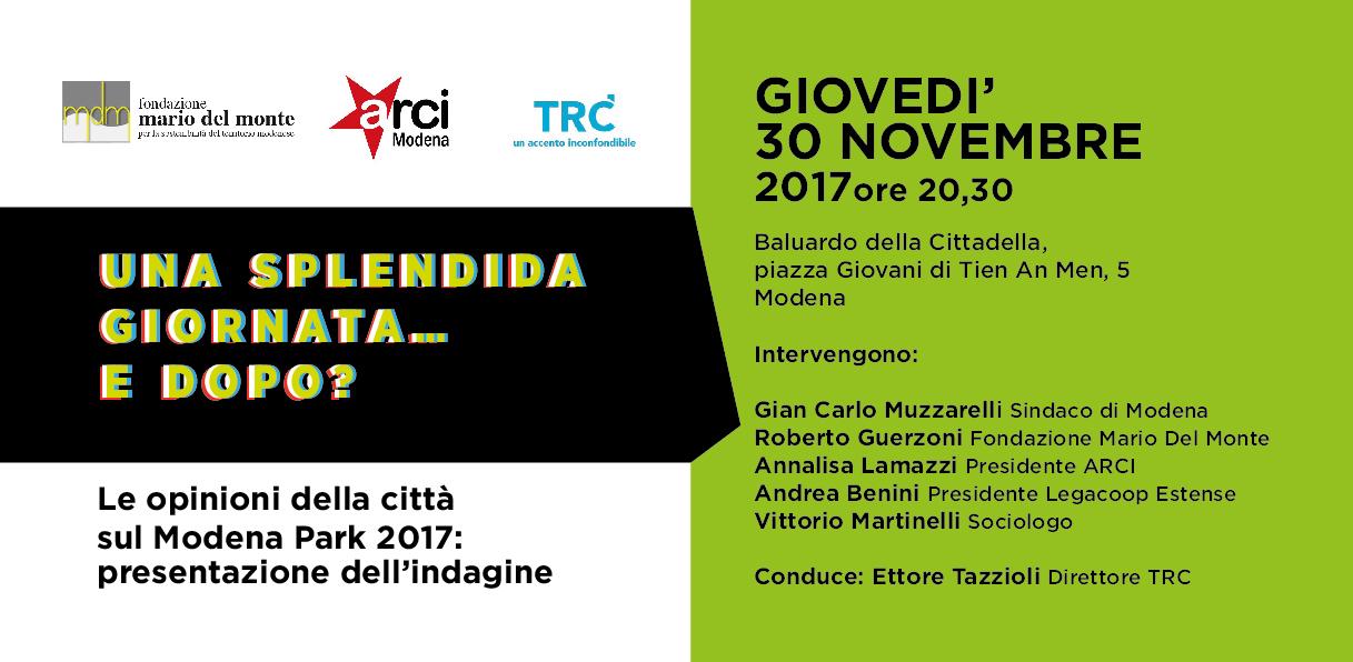 Fondazione Mario Del Monte e ARCI presentano: Una splendida giornata…e dopo?