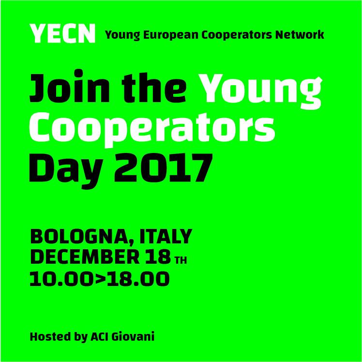 Young Cooperators Day: il 18 dicembre a Bologna l'assemblea del network europeo dei giovani cooperatori