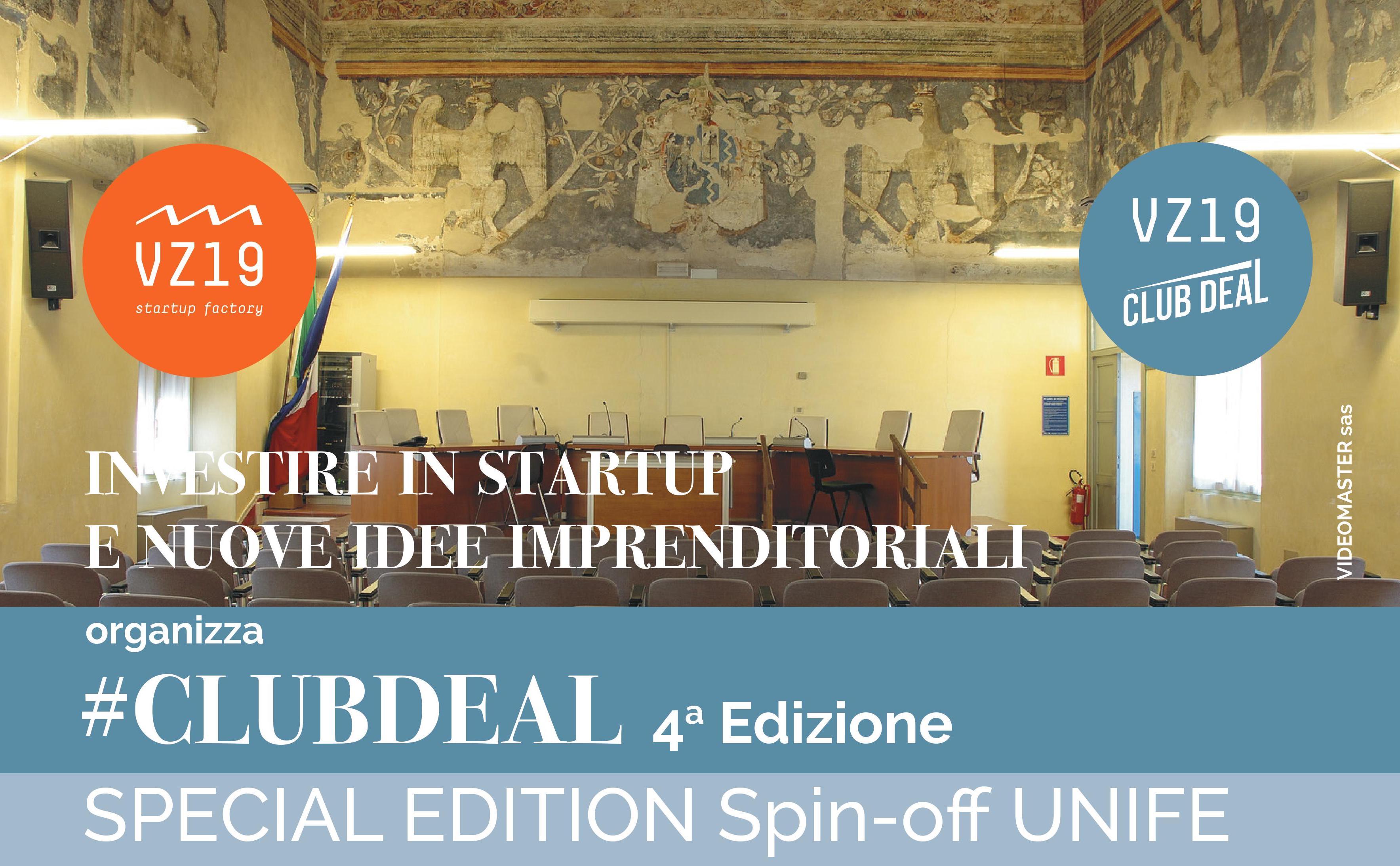 Club Deal: il 25 gennaio, nell'edizione dedicata agli spin-off Unife, verranno presentati alle imprese i risultati delle ricerche universitarie