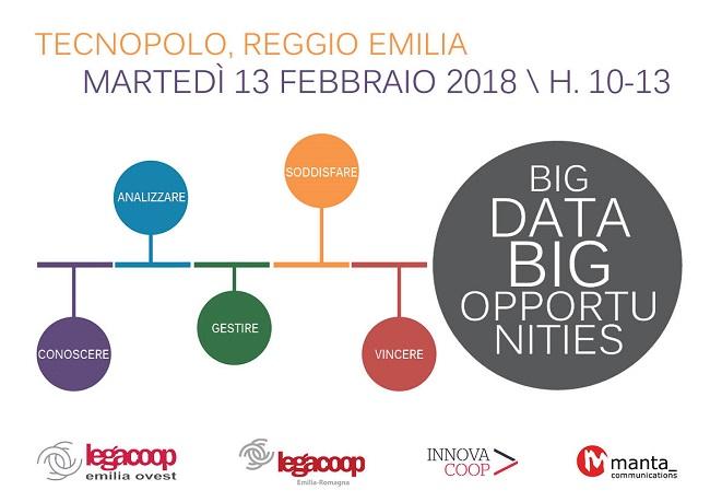 """Big Data Big Opportunities: il 13 febbraio a Reggio Emilia un nuovo seminario nell'ambito di """"Cooperazione 4.0"""""""