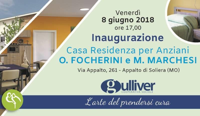 Gulliver: inaugurazione Casa Residenza per Anziani Focherini e Marchesi, venerdì 8 giugno