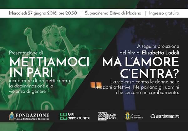 Discriminazione e violenza di genere: il 27 giugno iniziativa della Fondazione Cassa di Risparmio di Modena