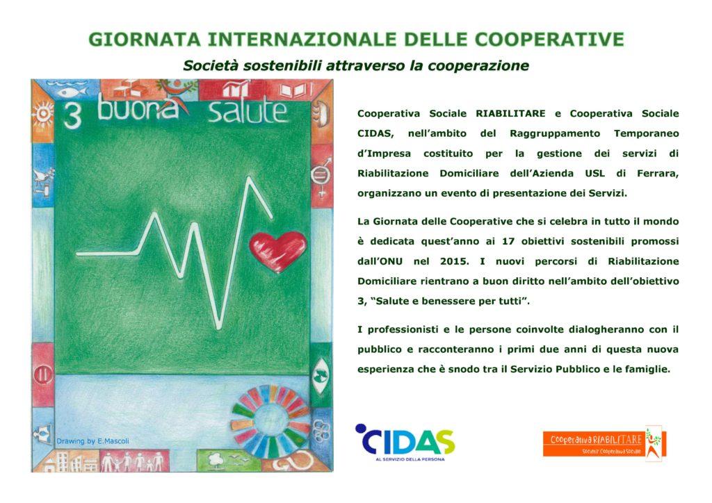 Riabilitazione Domiciliare Cidas E Riabilitare Organizzano Un Incontro Nell Ambito Della Giornata Internazionale Delle Cooperative Legacoop Estense