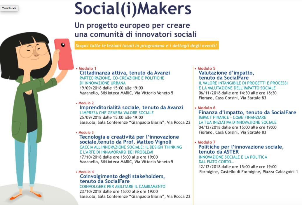 Social(i) Makers: aperte le iscrizioni ai 7 eventi formativi gratuiti