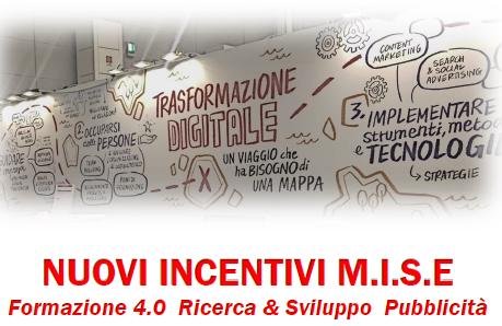 Nuovi incentivi M.I.S.E, Formazione 4.0 Ricerca & Sviluppo Pubblicità