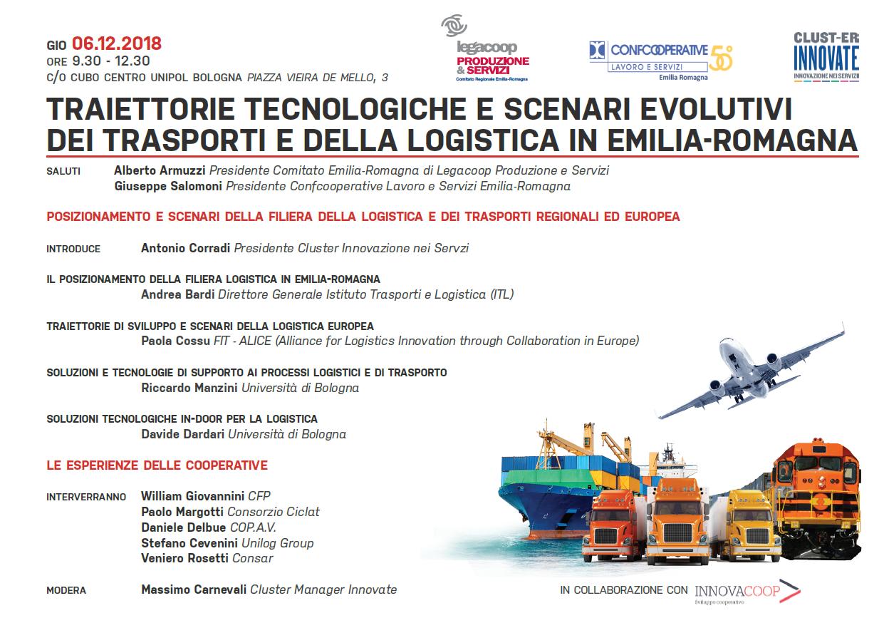 """Workshop """"Traiettorie tecnologiche e scenari evolutivi dei trasporti e della logistica in Emilia-Romagna"""""""