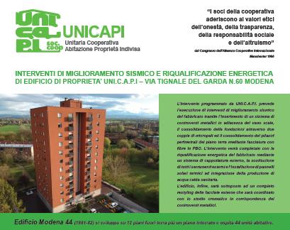 Unicapi presenta ai Soci il Bilancio Preventivo 2019. Proseguono a pieno ritmi gli interventi di riqualificazione del patrimonio immobiliare