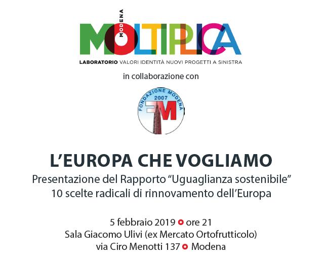 Laboratorio Moltiplica presenta: L'Europa che vogliamo, 5 febbraio 2019