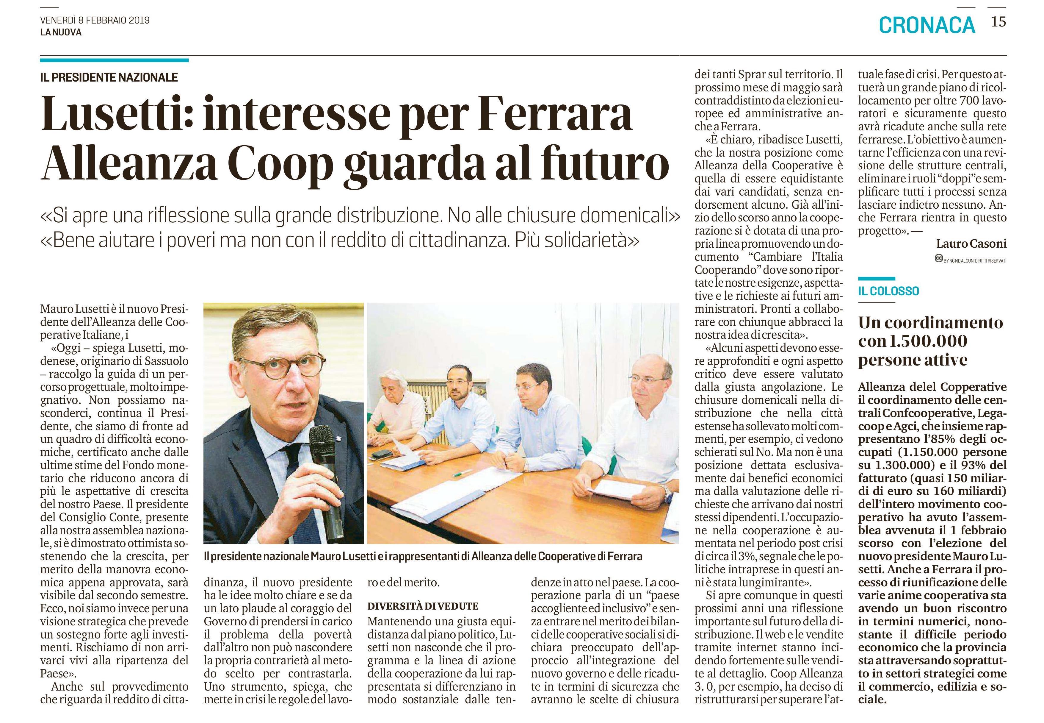 Intervista a Mauro Lusetti su La Nuova Ferrara