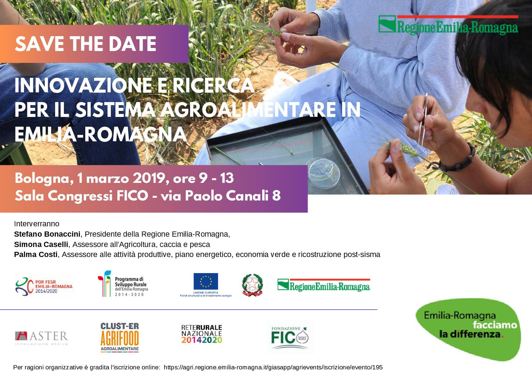 Innovazione e ricerca per il sistema agroalimentare in Emilia-Romagna: l'1 marzo un incontro a FICO