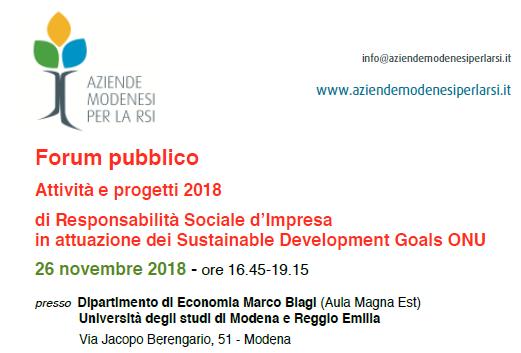 Associazione aziende modenesi per la RSI presenta: Felicità e Lavoro nell'impresa sostenibile