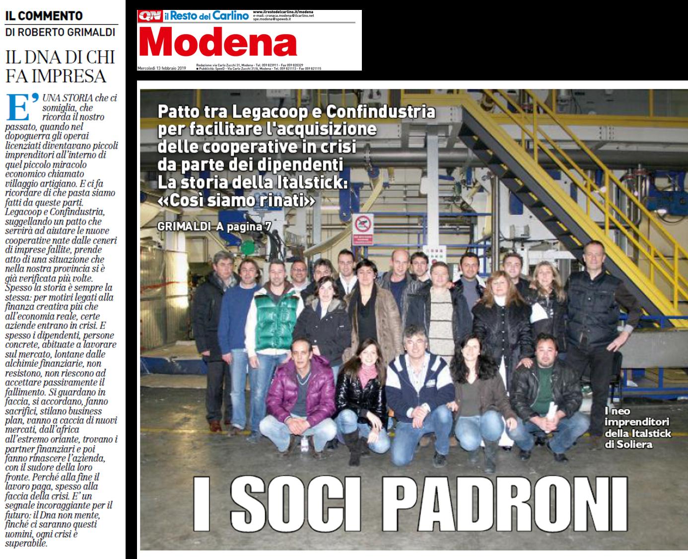 WBO: la storia di Italstick su Il Resto del Carlino Modena
