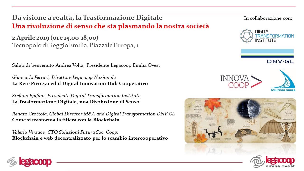 Seminario: Da visione a realtà, la Trasformazione Digitale. Una rivoluzione di senso che sta plasmando la nostra società
