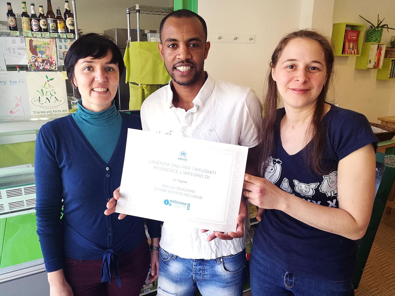 Imprese ferraresi premiate da UNHCR per l'inclusione di rifugiati