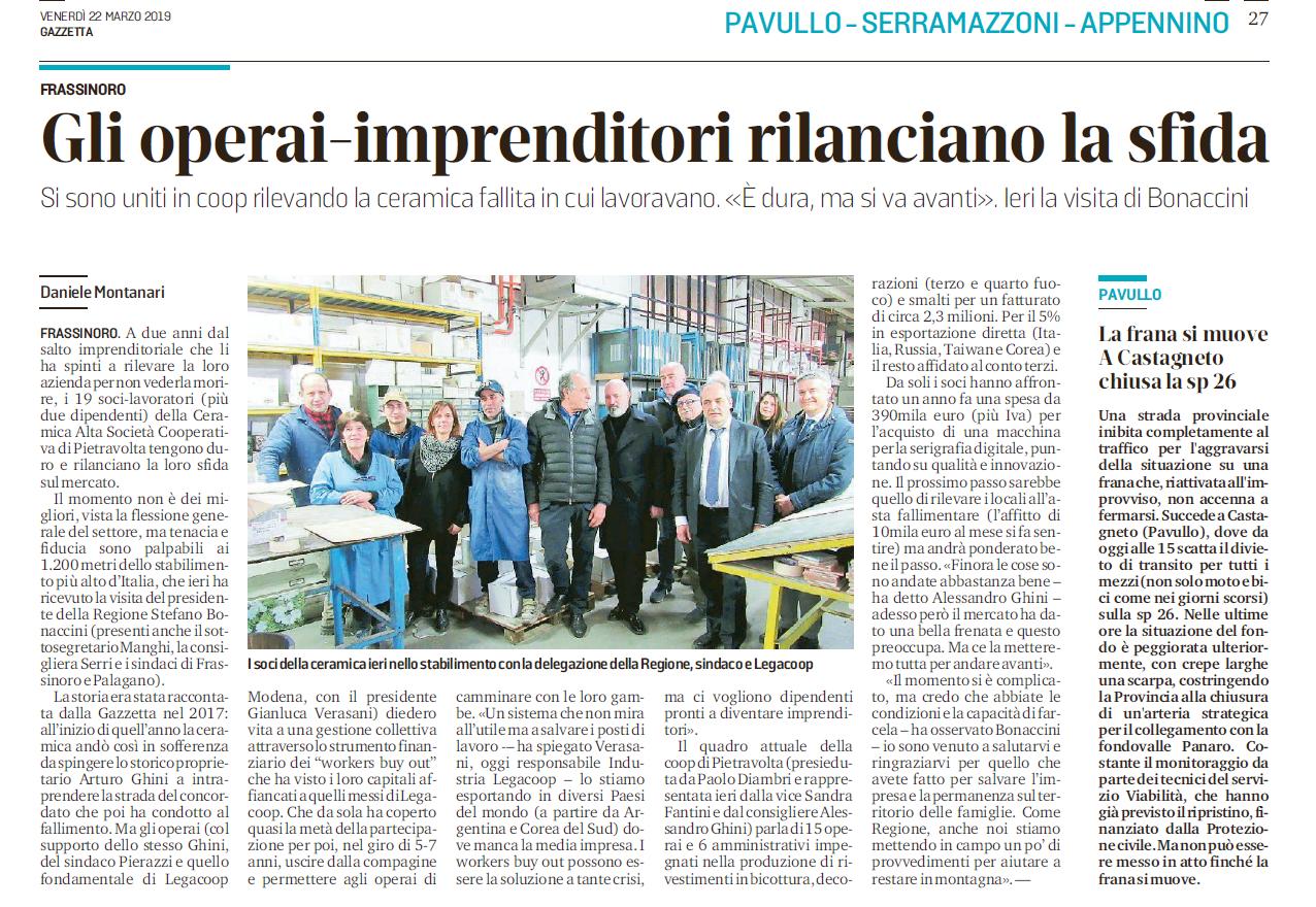 Workers buyout: il Presidente della Regione Stefano