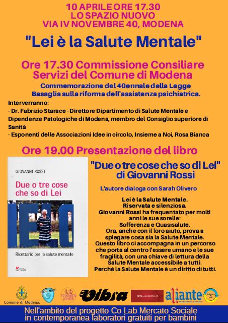 Salute Mentale: Commissione consiliare e presentazione del libro di Giovanni Rossi