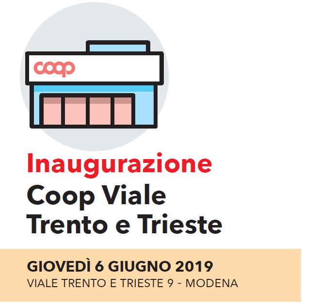 """""""La spesa sotto casa, tua"""": giovedì 6 giugno inaugurazione del supermercato Coop viale Trento e Trieste"""