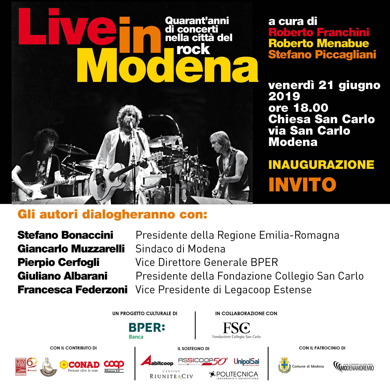 Live in Modena: 40 anni di grandi concerti in una mostra, venerdì 21 l'inaugurazione
