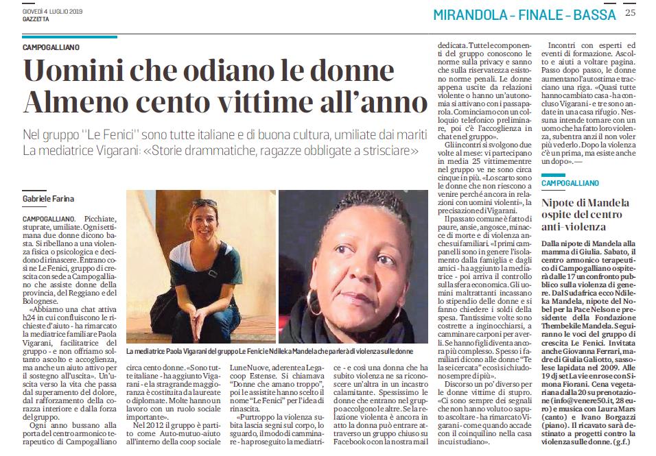 Gruppo di crescita Le Fenici, intervista a Paola Vigarani