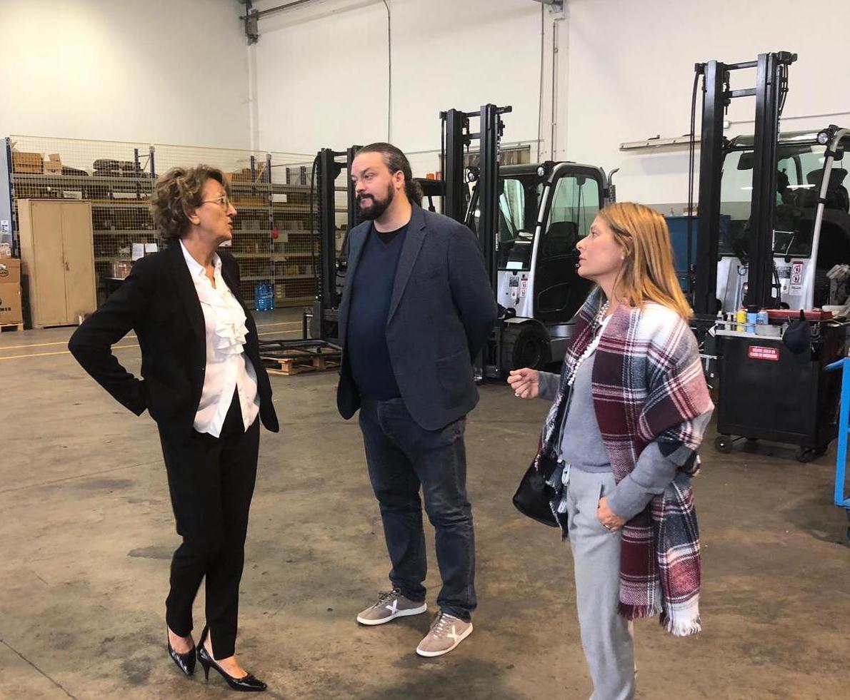 Coopser: il sindaco Alan Fabbri e l'assessore Angela Travagli in visita alla sede della cooperativa