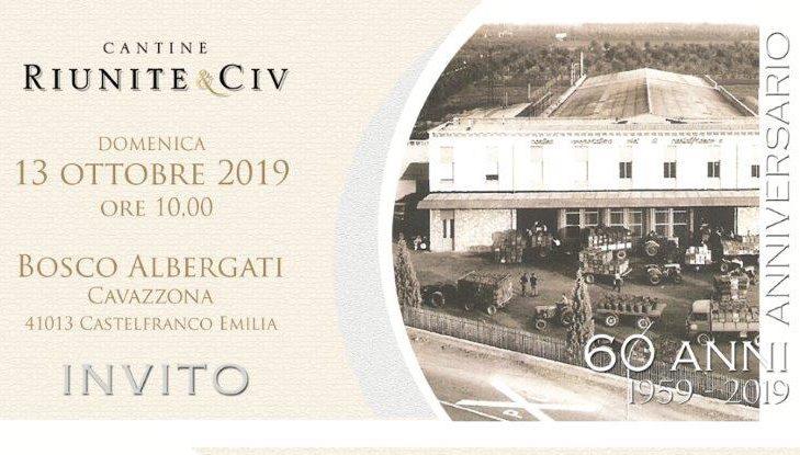 Cantine Riunite&Civ: la Cantina di Castelfranco Emilia festeggia 60 anni