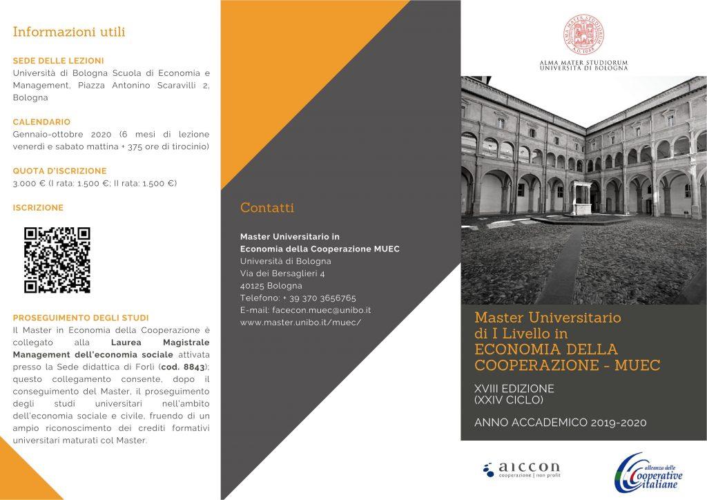 Master Universitario in Economia della Cooperazione: iscrizioni aperte fino al 9 dicembre