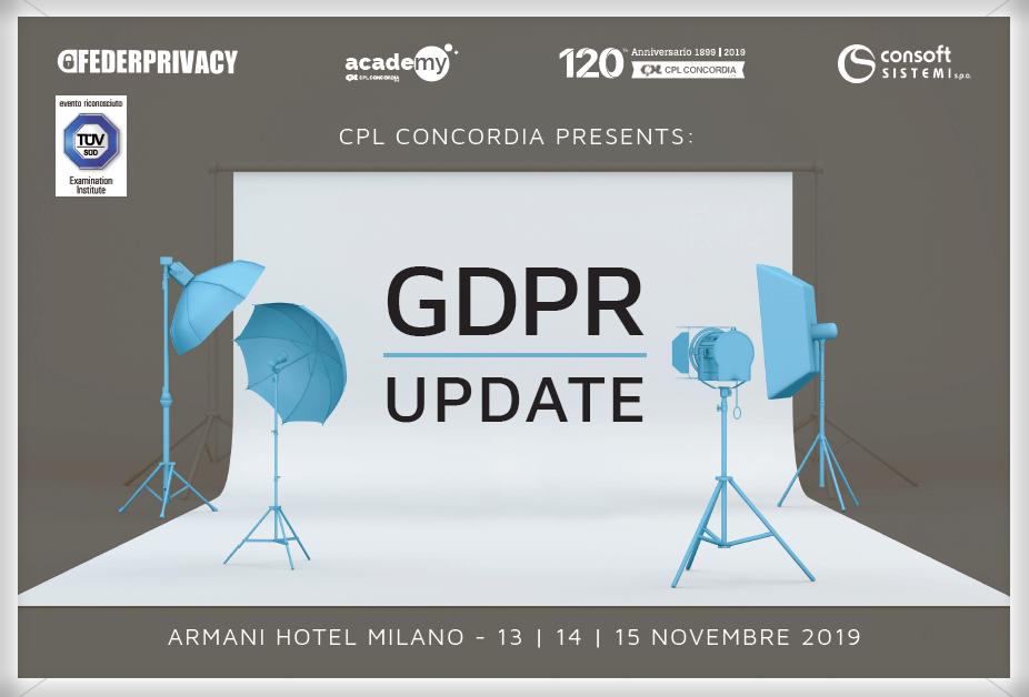 GDPR Update: con CPL Concordia una Master Class il 13-14-15 novembre