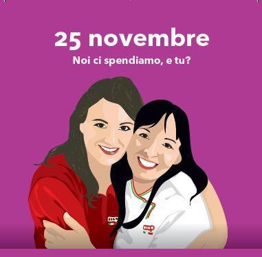 """A novembre Coop Alleanza 3.0 """"si spende"""" per la Giornata Internazionale per l'eliminazione della violenza contro le donne."""