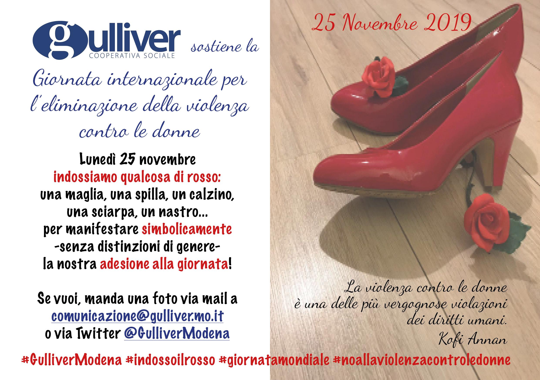 Gulliver sostiene la Giornata Internazionale per l'eliminazione della violenza contro le donne