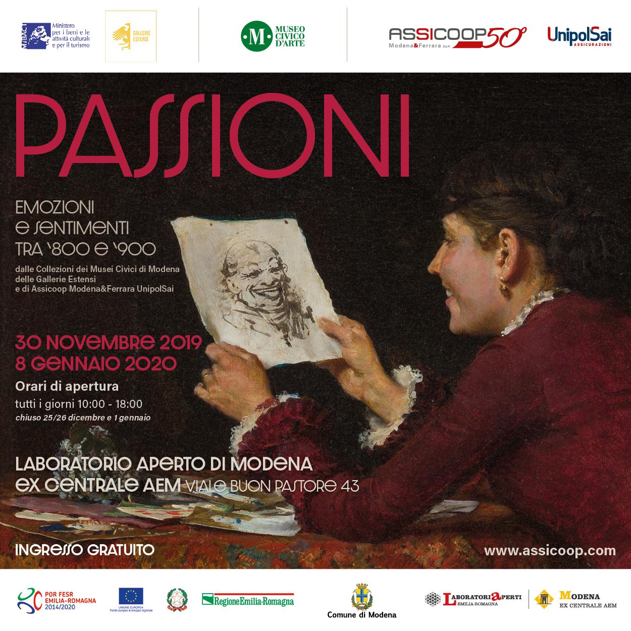 """Alla mostra """"Passioni"""", visite guidate e spettacolo teatrale a cura di ERT"""