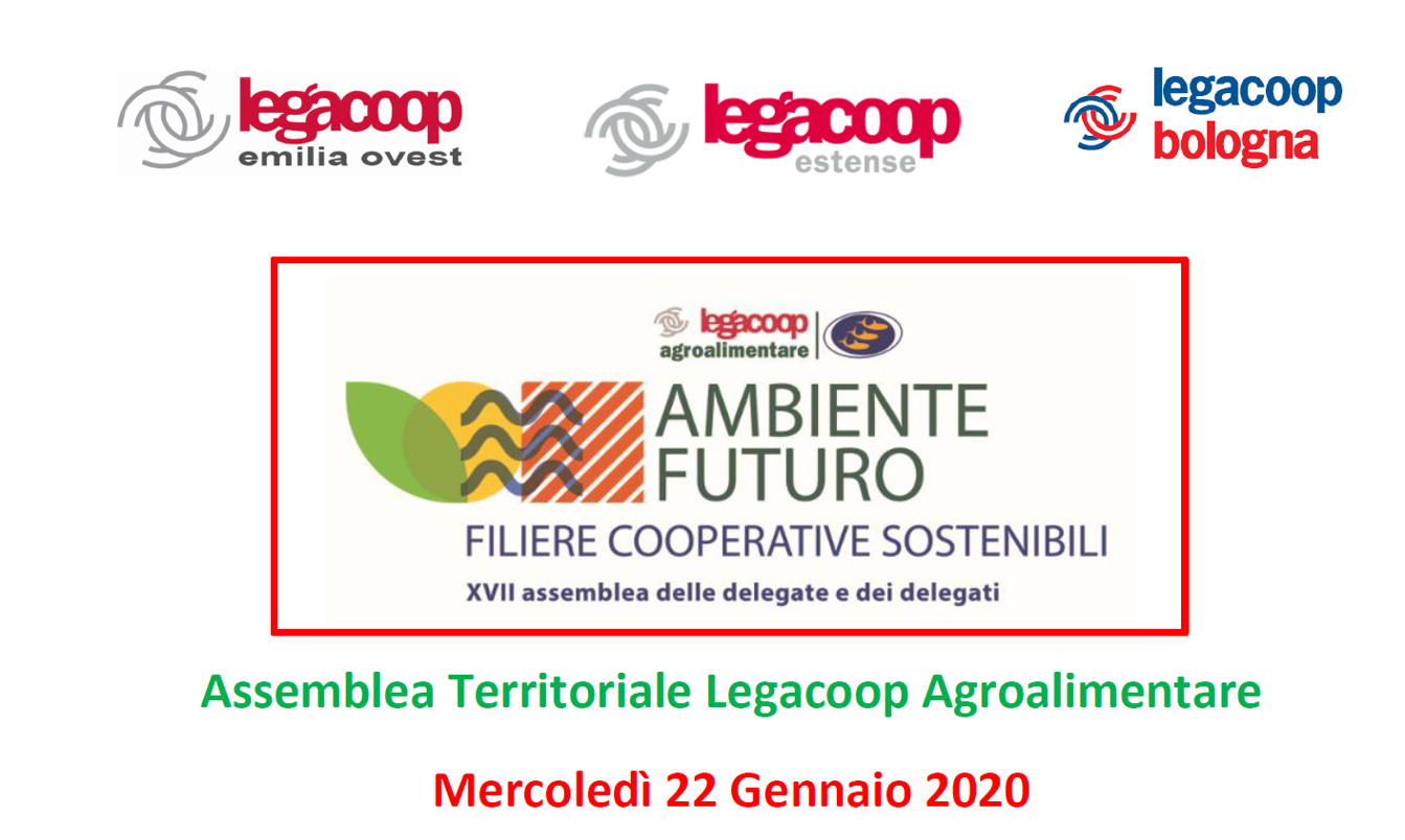 Assemblea Elettiva Legacoop Agroalimentare, mercoledì 22 gennaio
