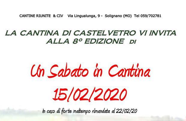 """Cantine Riunite & Civ: alla Cantina di Castelvetro 8^ edizione di """"Un Sabato in Cantina"""""""
