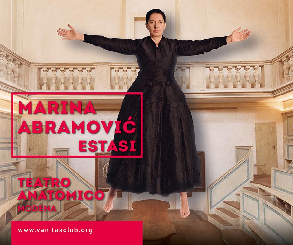 Marina Abramovic arriva con Estasi al Teatro Anatomico di Modena. Tra i sostenitori anche Coop Alleanza 3.0