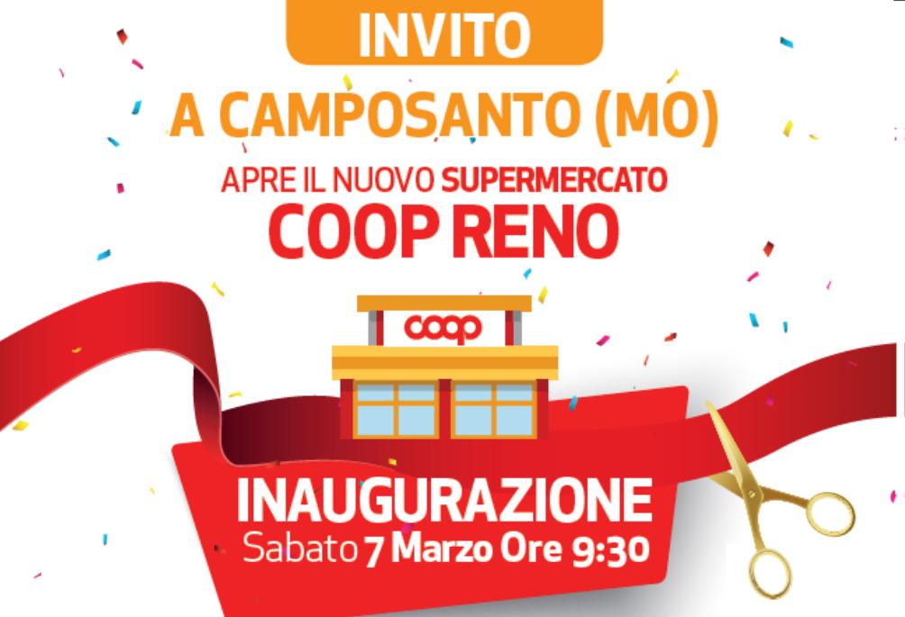 Coop Reno inaugura il primo punto vendita a Camposanto (Modena)