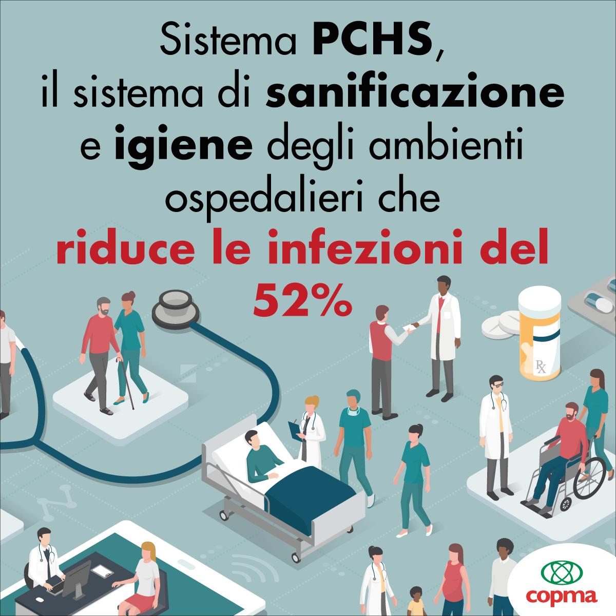 Copma: con il sistema di sanificazione PCHS risparmi fino a 457 milioni di euro per la Sanità. Pubblicata la ricerca