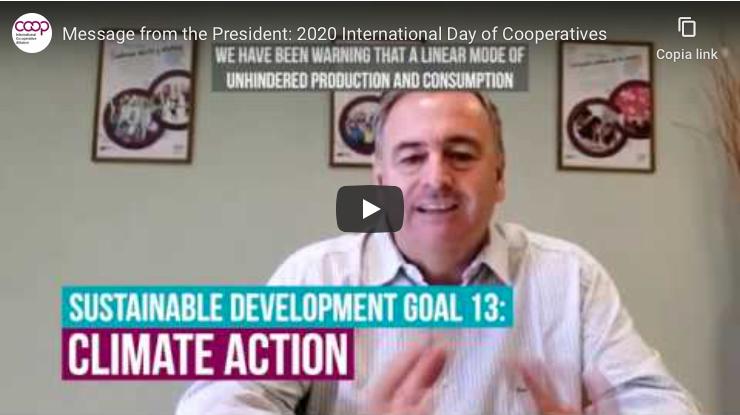 #Coops4ClimateAction, messaggio del Presidente ICA per la Giornata Internazionale delle Cooperative 2020